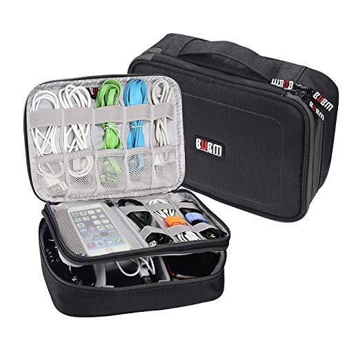 BUBM Tablet Electronics Organizer Travel Cable Cord Packing Accessories Gadget Gear Storage USB Cables SD Memory Cards Earphone Flash Hard Drive Bag