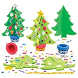 Baker Ross Kit de décoration de Noël - Lot de 4 Sapins, Assortiment