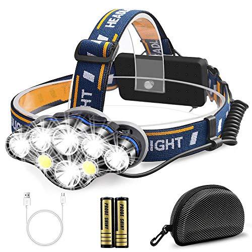 Migimi Lampe Frontale Super Puissante, Lampe Torche 8 Modes USB...