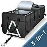 Knodel Sturdy Car Trunk Organizer with Premium Insulation Cooler Bag, Heavy Duty Collapsible Trunk Storage Organizer for Car, SUV, Truck, or Van