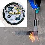 Asphalt Concrete Crack & Joint Filler TARR Tape Tarmac Parking lot and Driveway Rubberized Crack Repair and Filler 50' x 2'
