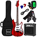 Best Choice Products 39in Full Size Beginner Electric Guitar Starter Kit w/Case, Strap, 10W Amp, Strings, Pick, Tremolo Bar - Cherry Red