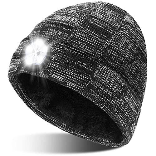 Geschenke für Männer Mütze mit LED Licht - Papa Männer Geschenkideen Weihnachten LED Mütze,...