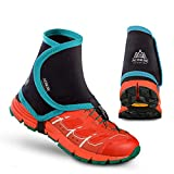 Keep Outdoor 1 Pair Cross Country Low Trail Running Gaiters Sand Proof Shoe Cover for Men Women Hiking Runing Cycling Mountain Road Prevent Sand Stone (Green&Black)