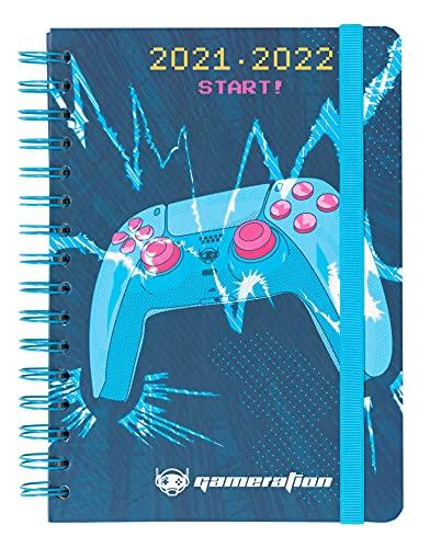 Agenda Gameration 2021-2022 - Agenda escolar 2021-2022 / Agenda 2021 semana vista - Agenda 12 meses desde Agosto de 2021 a Julio de 2022 |Agenda A5 - Producto licencia oficial - Agenda Kalenda