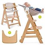 Hauck Beta Plus Newborn Set - Chaise Haute Bébé Évolutive Escalier dès...