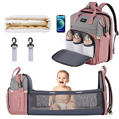 Diaper Bag, Multifunctional Bakcpack with USB Charging Port and...