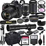 Nikon D850 DSLR Camera with 24-120mm VR and 70-300mm Lens Bundle with 420-800mm Preset f/8 Telephoto...