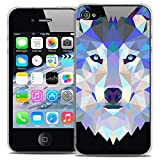 Caseink - Coque Housse Etui pour Apple iPhone 4/4S [Crystal HD Polygon Series...
