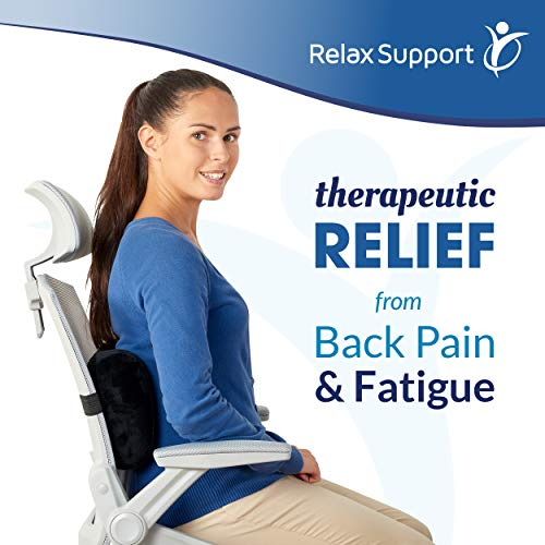 Product Image 5: Relax Support RS7-X Office Chair Back Support Pillow - Medium Firm Memory Foam Lumbar Cushion - Promotes Spinal Alignment & Better Posture - Non-Slip Strap, Washable Cover - Fits Wheelchair, Recliner