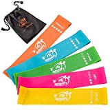 Fit Simplify Resistance Loop Exercise Bands for Home Fitness, Stretching, Strength Training, Physical Therapy, Workout, Pilates, Set of 5, 10-inch