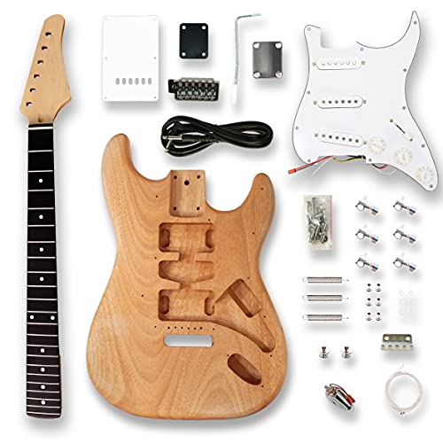 BexGears DIY Electric Guitar Kits, okoume Body maple neck & composite ebony fingerboard