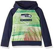 Includes one officially licensed Seattle Seahawks Pullover hoodie Polyester Interlock Seahawks logo with sublimation Country Of Origin : El Salvador