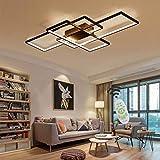 Jsz LED Dimmable Plafonnier Salon Lampe avec Télécommande Moderne Plafond...
