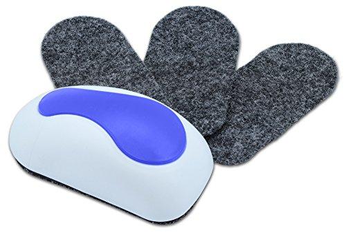 NEKAVA cancellino lavagna con 3 feltri di sostituzione pulisce whiteboard, lavagne magnetiche,...