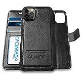 AMOVO iPhone 12 用 ケース iPhone 12 pro 用 カバー手帳型 分離式 マグネット 取り外し自由 ……