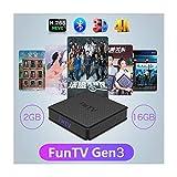 2020 FUNTV Chinese WiFi 5G Bluetooth 4.0 2GB RAM+16GB ROM Free Lifetime 5 Days Playback 500+ Mandarin Cantonese Mainland Hong Kong Macao Taiwan Channels