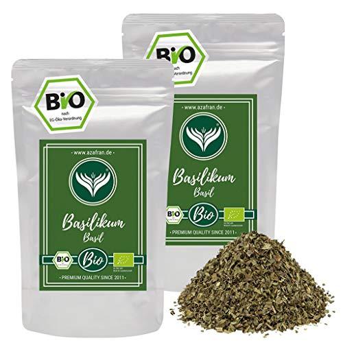 Azafran BIO Basilikum getrocknet und gerebelt - Italienische Kräuter auch als Basilkum Tee 500g