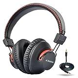 Avantree 40 Stunden aptX Wireless Wired Bluetooth Kopfhörer Over Ear mit Mikrofon, Hi-Fi Funkkopfhörer Headset , Extra Komfortable und LEICHT, NFC, DUAL Mode - Audition