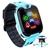 Kids Game Smart Watch - Touch Screen Game Smartwatches Call SOS Camera 7 Games Alarm Boys Girls Birthday Gifts 3-10 (Blue)