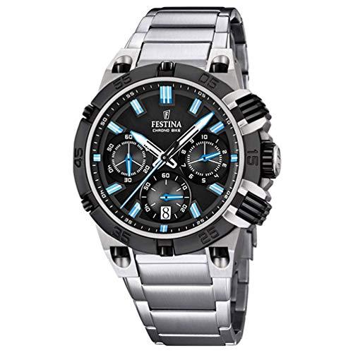 Festina Herren Analog Quarz Uhr mit Nylon Armband 8430622696190