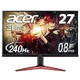 Acer ゲーミングモニター SigmaLine 27インチ KG271Fbmiipx 0.8ms(GTG) 240Hz TN フルHD FreeSync フレームレス HDMIx2 スピーカー内蔵 ブルーライト軽減