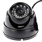 Day&Night Vision with 24 Pcs IR LEDs-1MP web cams with OV9712 sensor Dome Surveillance CCTV Camera,equipped with 24pcs IR LEDs, night vision (Color in day time,black & white in night time),3.6mm lens that wide enough to cover about 90°view. (Depended...