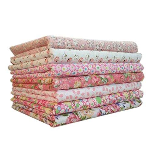 Aulley Tessuto del Cotone 7pcs / Set per Il Tessuto Domestico della Tessile Domestico della Rappezzatura della cucitrice di Cucito Che impacca Il Tessuto della Bambola di Tilda