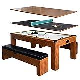 Hathaway Games Sherwood 7' Air Hockey/Table Tennis Table