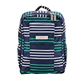 JuJuBe MiniBe Small Backpack, Coastal Collection - Providence - Navy/Teal/White Stripes