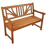 Gartenmöbel Set Lotus Garten Garnitur Sitzgruppe aus Holz 4-teilig Tisch Gartenbank 2 x Stuhl - 7