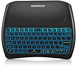ANEWKODI 2.4GHz Mini Wireless Keyboard with Touchpad, Rechargeable Li-ion Battery & Multi-Media Keys Handheld Remote Control Keyboard for Android TV Box, PC, Laptop, Tablets, Smart TV, Xbox, PS3