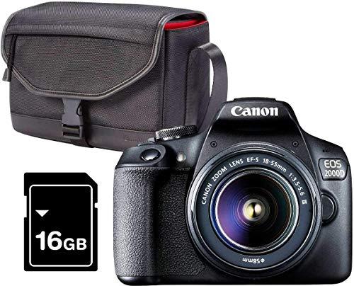 Canon EOS 2000D Kit Cámara Réflex 24.1MP WiFi NFC + Objetivo...