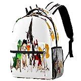 Pug Dogs Mochila Escolar Mochila Bolsa de Libro Casual Daypack para Viajes, estampado 8 (Multicolor) - bbackpacks004