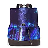 Yuanmeiju Womens Backpack Purse Watercolor Cute Blue Eyes Cat Shoulder Schoolbag Leather Casual Bag Girls