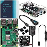 Vilros - Raspberry Pi 4 Basic Kit [2GB] - Includes Fan-Cooled Case, Power Supply with Switch, Heatsinks, HDMI Adapter, Quickstart Guide