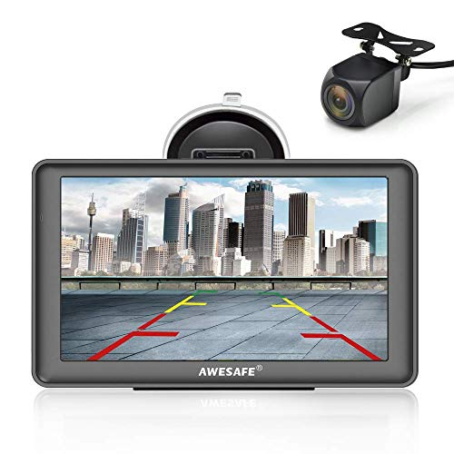 AWESAFE Bluetooth Navigation mit Rückfahrkamera für Auto LKW 7 Zoll...