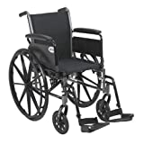 Drive Medical Cruiser III Light Weight Wheelchair with Various Flip Back Arm Styles and Front Rigging Options,...