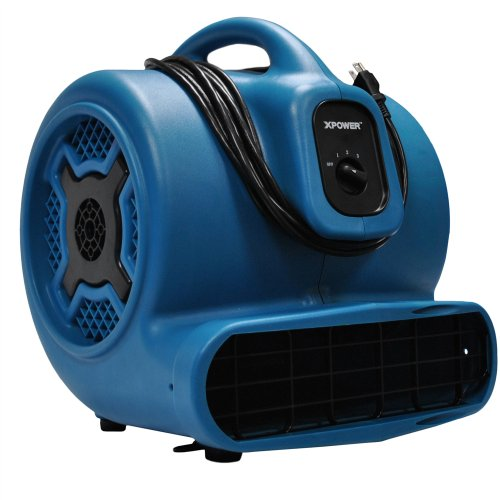 XPOWER X-830 1 HP 3600 CFM 3 Speed Professional Air Mover, 8.5-Amp
