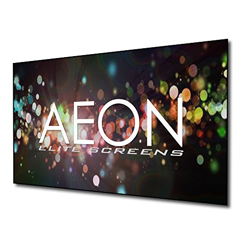 Elite Screens Aeon Series, 120-inch 16:9, 8K / 4K Ultra HD Home Theater Fixed Frame EDGE FREE Borderless Projector Screen, CineWhite Matte White Front Projection Screen, AR120WH2, Grey