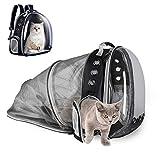 YUDOXN Mochila para Mascota,Mochila Gato y Mochila para Perros. Mochila portátil para Transportar para Gato y Perro pequeño,diseño de cápsula Espacial, para automóvil/Compras/al Aire Libre.