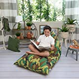 Butterfly Craze Stuffed Animal Storage Bean Bag Chair – Stuff 'n Sit Toy Bag Floor Lounger for Kids, Teens and Adult |Extra Large 200L/52 Gal Capacity |Premium Cotton Canvas (Camouflage)