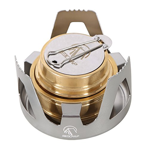 REDCAMP Mini Alcohol Stove for Backpacking, Lightweight...