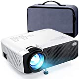 Mini Projector, APEMAN 5000L Brightness 180' Display Projector [Carry Case Included], Support 1080P, 55,000 Hours LED Life, Compatible with TV Stick, TV Box, PS4, HDMI, VGA, TF, AV, USB for Home Movie