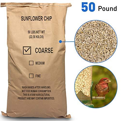 EasyGo Product Sunflower Kernels  Sun Flower Chips Wild Bird Food  50 lb