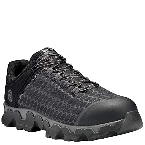 Timberland PRO Men's Powertrain Sport Alloy Toe EH Industrial & Construction Shoe, Black Synthetic, 14 W US