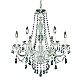 Schonbek 1303-40H Swarovski Lighting Arlington Chandelier, 24' x 24' x 28', Silver