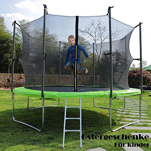 ISE Ø 250 Gartentrampolin Kindertrampolin Garten Trampolin für Kinder,TÜV Zertifiziert,inkl.Sicherheitsnetz,Leiter,Federabdeckung & Zubehör