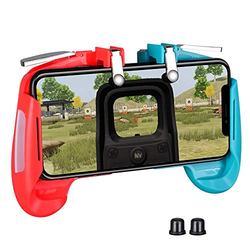 PUBG Controladores de Juegos móviles Gamepad Qoosea Sensitive Shoot Aim Joysticks Physical Buttons L1R1 Diseño Ergonómico Handgrip Game Triggers for Knives Out / PUBG / Garena Free Fire / Epic Games