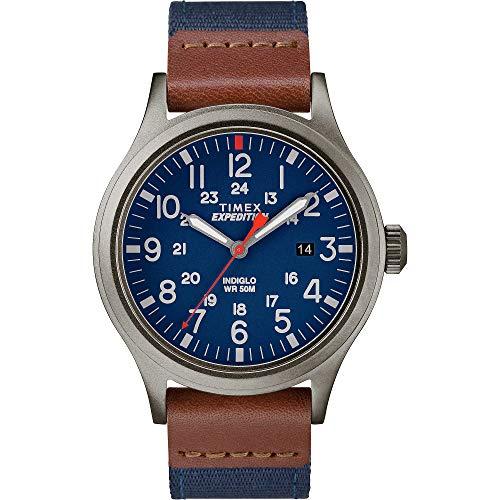 Timex Herren Analog Klassisch Quarz Expedition Scout 40 mm Uhr mit Stoff Armband TW4B14100